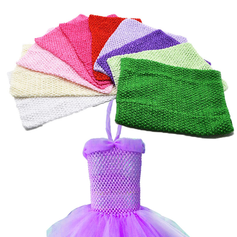Baby Girl 12Inch Tutu Tube Top Chest Wrap Crochet Wide headband DIY Tutu Clothes