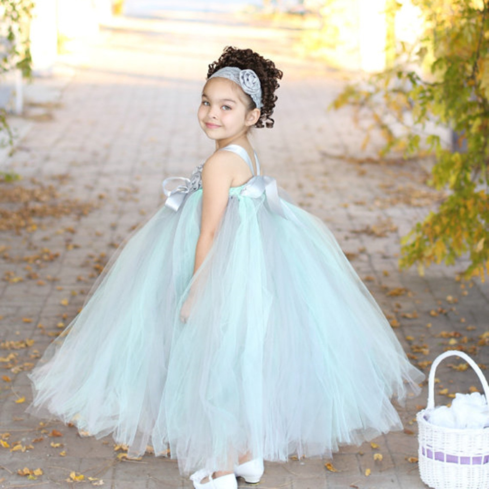 Mint green flower girl princess dress kid party pageant festival mint green flower girl princess dress kid party pageant festival wedding bridesmaid tutu dress pink fancy ball gown photography in dresses from mother ombrellifo Gallery