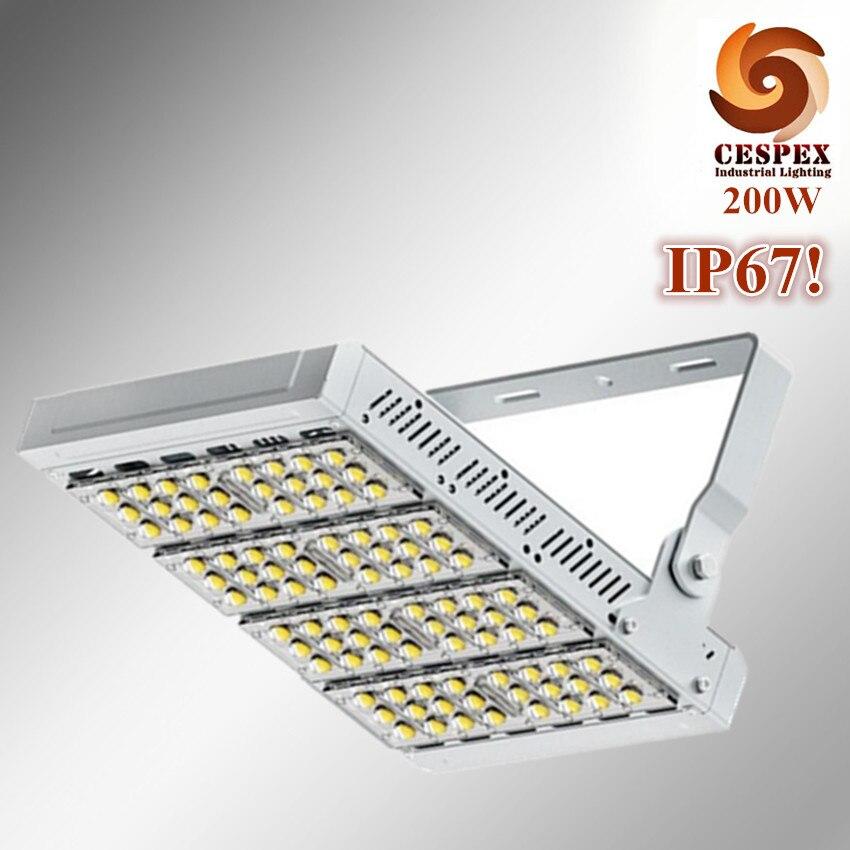 5 ans de garantie top qualité en alliage d'aluminium module IP67 extérieure protection grade 200 W haute mât tunnel stade LED lumière