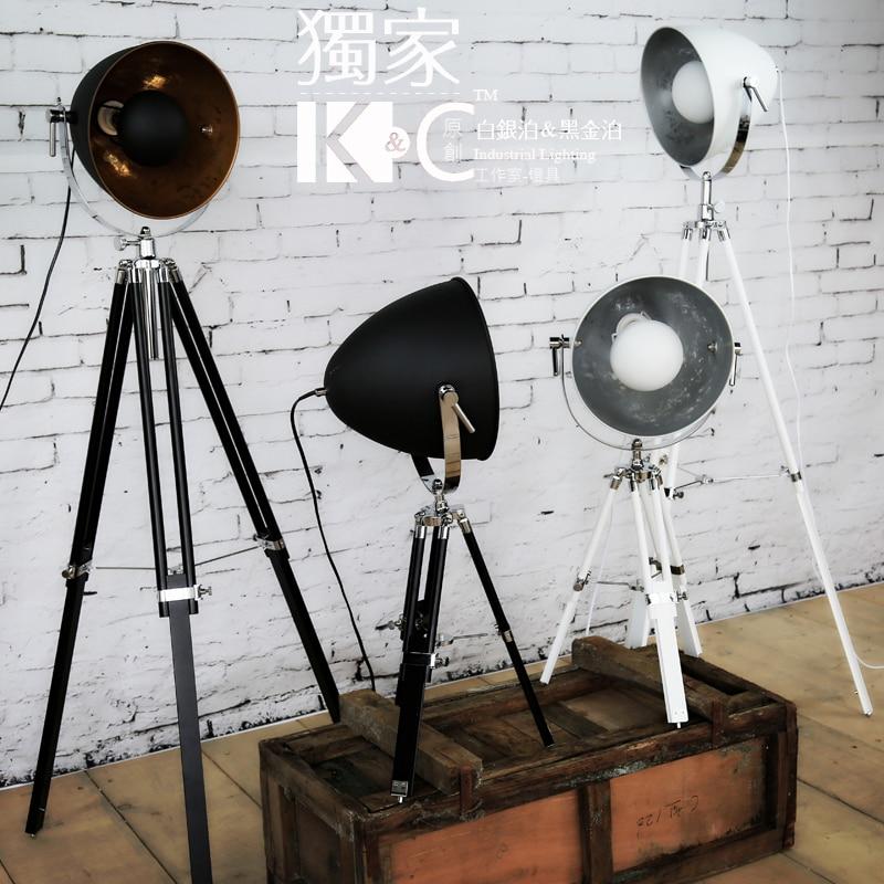 Retro Industrial Loft Style Floor Lamp Ikea Nordic Creative