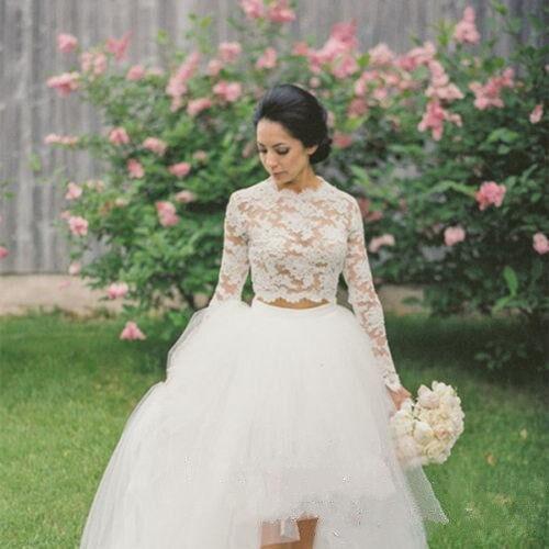 Long Sleeve Lace Wedidng Top Jacket Bolero Appliqued White Ivory Bridal Wrap Plus Size Bride Shawl Wedding Accessories