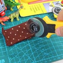 45mm Rollschneider Mit 2 stücke Klingen Gelb Handwerk Leder Stoff Schneidmesser Messer Quilten Werkzeuge Nähzubehör