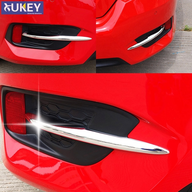 For Honda Civic 10th Gen 2016 2017 2018 Chrome Rear Fog Light Lamp Bumper  Cover Trim