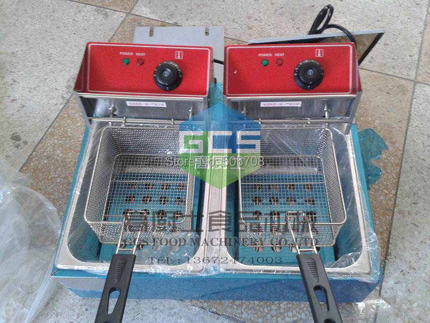 Buy 1 get 2 frying basket ! Electric food fryer 12L Stainless steel deep fryer Potato chips fryer
