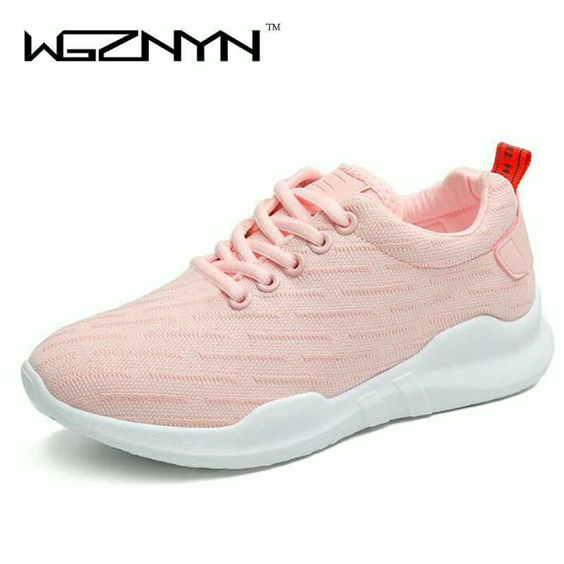 Fashion Sneakers Women Casual Shoes white ladies Air Mesh Trainers Basket Femme Wedges female Mesh Shoes black tenis feminino W3