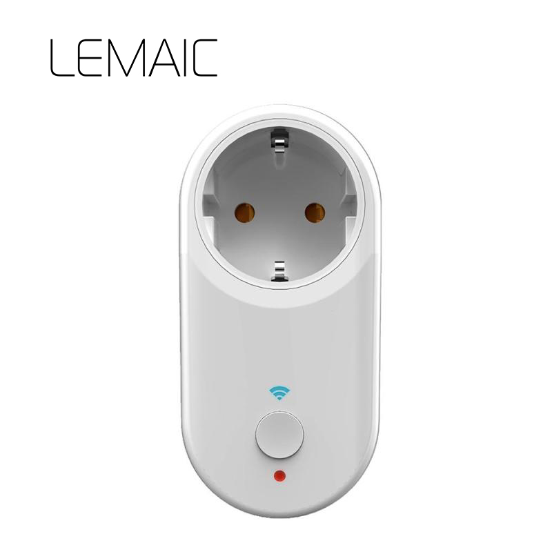 LEMAIC EU Smart Home WIFI Power Socket Wireless Smart Switch Charging Adapter home automation with Alexa by App ios Android 2ch dc 5v wifi wireless smart switch module controlled by app on android ios for home automation light appliance garage door