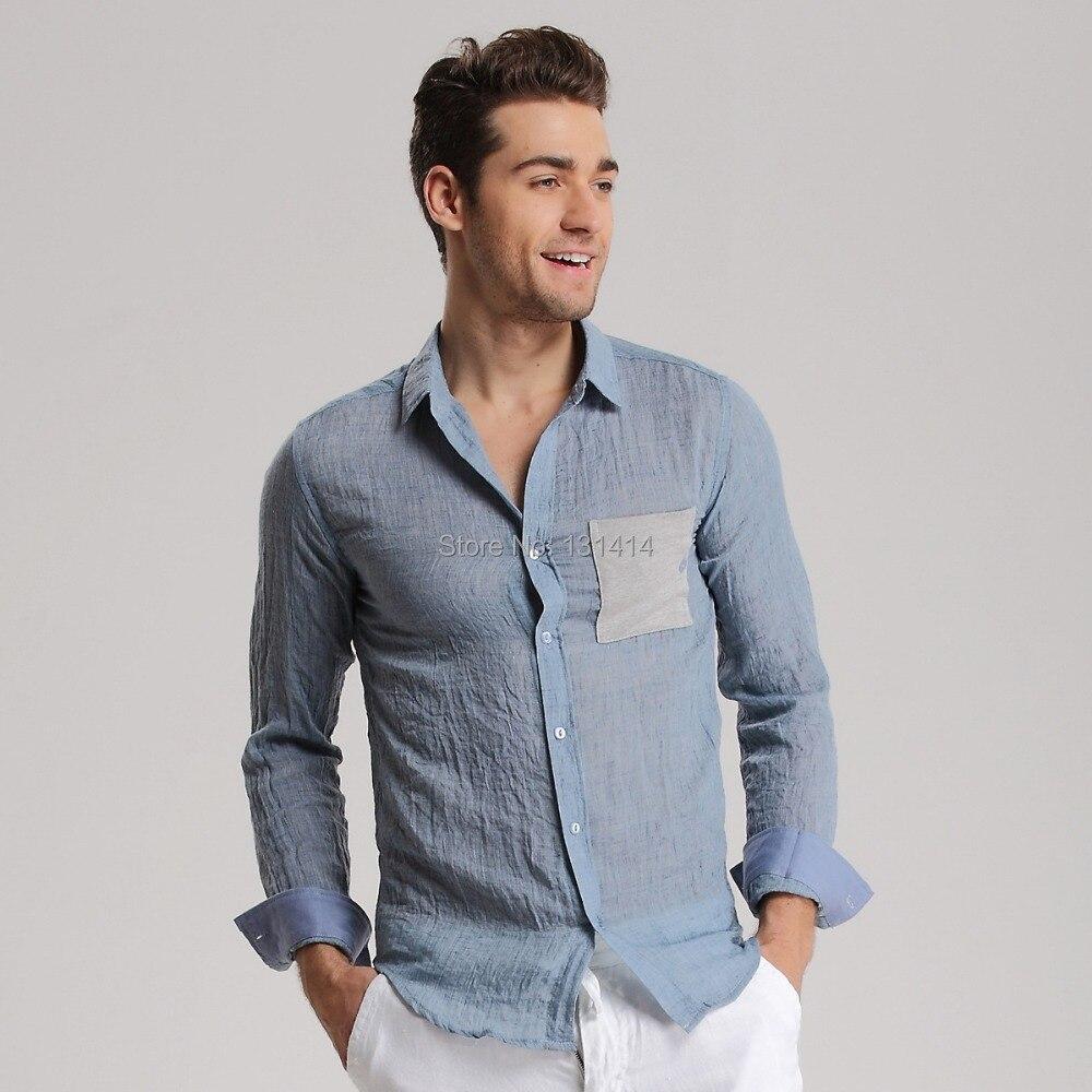 Camisas sport de primavera / verano 2015 nuevo algodón de