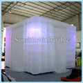 3mLx3mWx2.4mH cube shaped portable led photo booth tent inflatable photo booth enclosure for sale fast shipping Sale-Seller