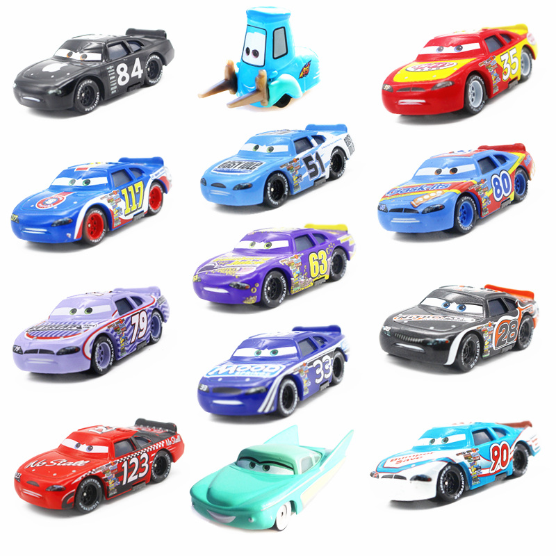 Disney Pixar Cars 3 2 Toys Guido Flo Chick Hicks Sally Jackson Storm Mater 1:55 Diecast Metal Alloy Model Cars Kid Gift Boy Toy цена