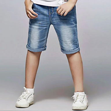 Brand New Boy Fashion Denim Shorts Summer New Style Elastic Waist Kids Short Jeans Size 130 170 ...