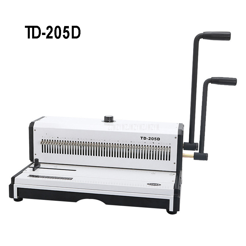 TD 205D Manual Spiral Wire Binding Machine Metal 49 Square
