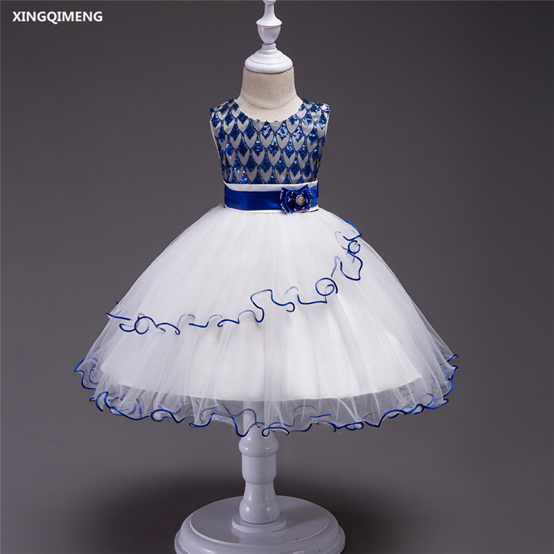 3497a14c656a2 In Stock White Tulle Ball Gown Flower Girl Dresses 4-16Y Chic Sparkly First  Holy Communion Dresses ...