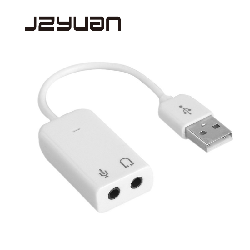 USB Sound Card Virtual 7.1 3D External USB Audio Adapter USB To Jack 3.5mm Earphone Micphone Sound Card For Laptop Notebook PC