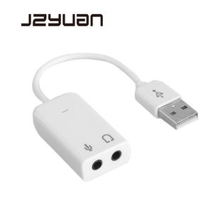 Audio-Adapter Earphone Sound-Card Laptop Usb-To-Jack External Virtual-7.1 3D No for Notebook