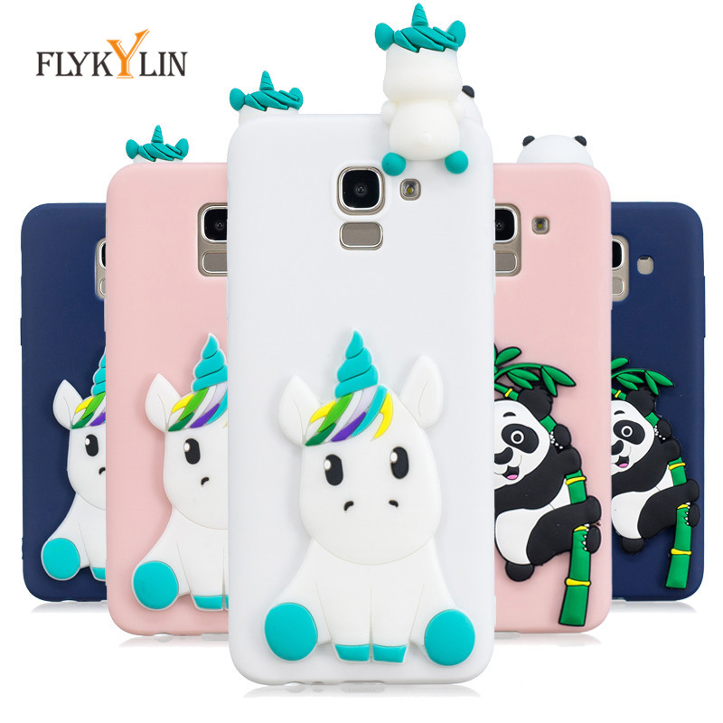 J6+ Soft Silicone Case For Coque Samsung Galaxy J6 2018 Case 3D DIY Unicorn Panda Cover For Samsung J6 Plus 2018 J6+ Phone Case