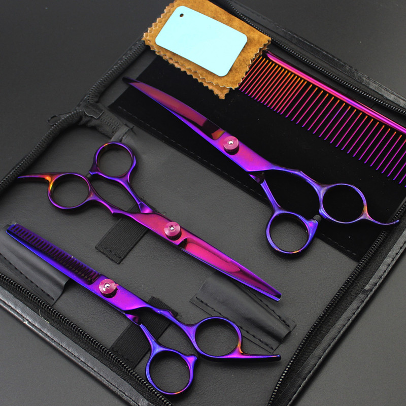4 kit 4cr steel 7 inch Pet dog grooming shears hair scissors dog comb pet cutting barber thinning hairdressing scissors with bag4 kit 4cr steel 7 inch Pet dog grooming shears hair scissors dog comb pet cutting barber thinning hairdressing scissors with bag