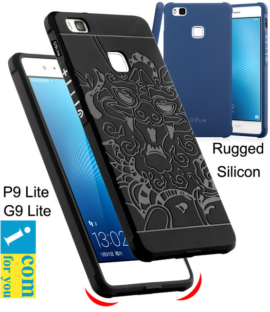 Drop Resistance Rugged Tough Armor Cover Case For Huawei P9 Lite G9 Silicon Rubber