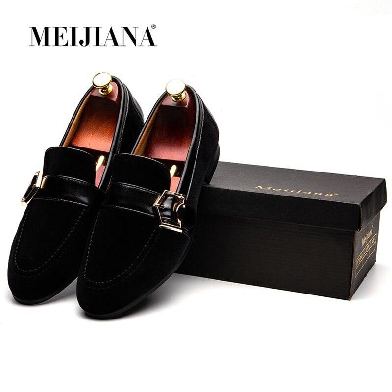 MEIJIANA Black Velvet Men Shoes Summer Slip On Driving Moccasins Men Loafers Handmade Slipper Mens Casual Shoes in Men 39 s Casual Shoes from Shoes