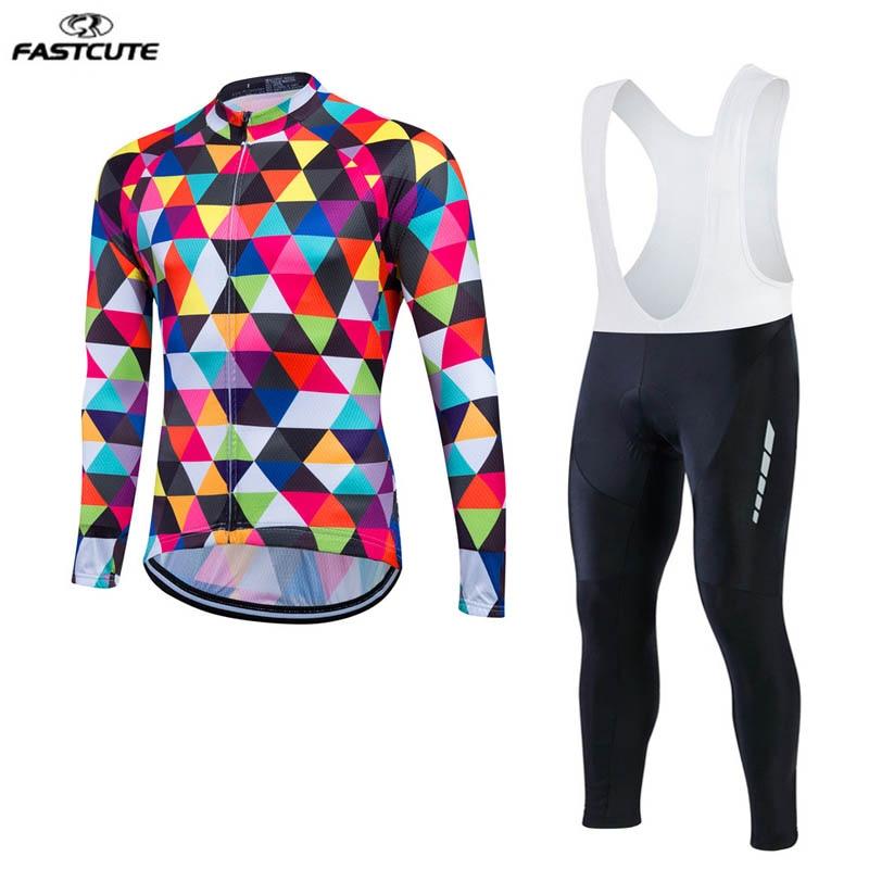 Fastcute ropa long sleeve Cycling Clothing Pro hombre MTB Bike Maillot Ciclismo Rock Racing Bike Ropa Cycling Jerseys  LL27