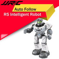 JJRC R5 USB Charging Rotatable Arms Multifunctional Educational RC Robot Toy Blue white for Children Kids Birthday Gift