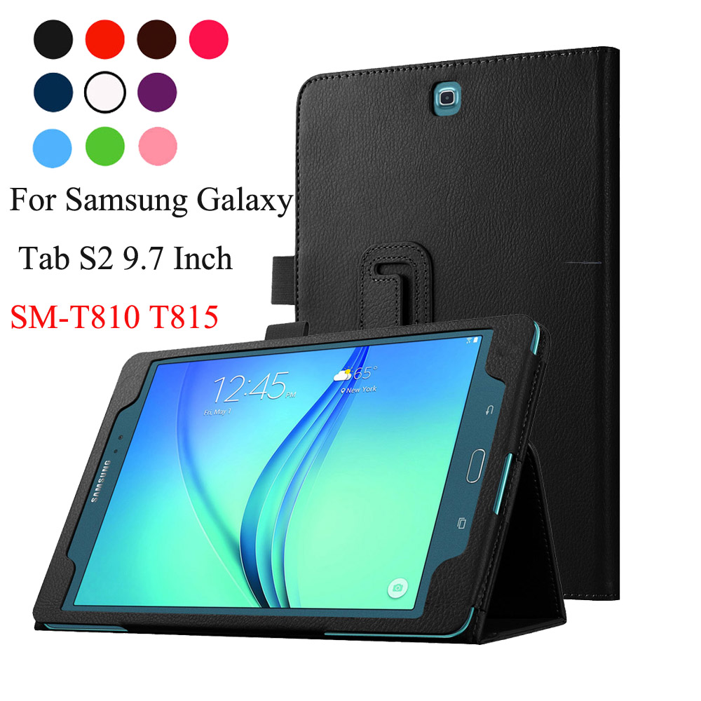 For Samsung Galaxy Tab S2 9.7 T810 T815 Case Book Flip Folio PU Leather Stand Cover Sleep Wake kid s box level 2 pupil s book