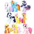 Pegasus Twilight Sparkle Rainbow Dash Rarity Fluttershy Unicorn Action Figures Pinkie Pie Horses Figurines Dolls Kids Baby Toys