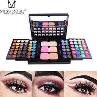 Miss Rose 78 Color Eyeshadow Makeup Palette Cosmetic Salon Shimmer Matte Eye Shadow Blush Concealer Makeup