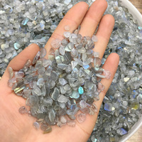 1kg Natural Crystal Gray Labradorite Moonstone Gravel Rock Quartz Raw Gemstone Mineral Specimen Graden Decoration Energy Stone