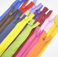 45pcs 3# 6inch 15cm mix color Long Invisible Zippers DIY Nylon Coil Zipper For Sewing Clothes Cushion Pillow Tailor Tool