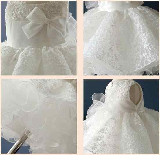 104b75696aa9 ... Newest Infant Baby Girl Birthday Party Dresses Baptism Christening  Easter Gown Toddler Princess Lace Flower Dress