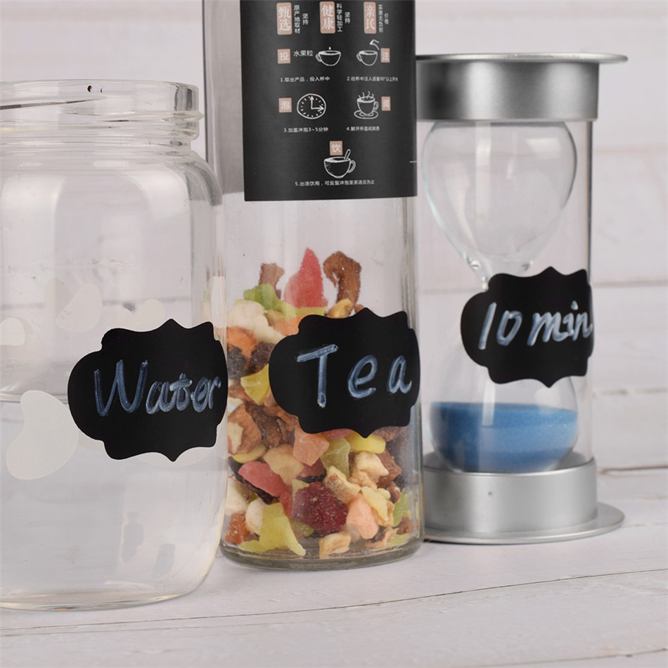 US $2 74 15% OFF|90pcs Reusable Blackboard Stickers Removable Kitchen  Sticker Labels Jars Bottle Cup Chalkboard Stickers Wall Sticker With Pen-in  Wall