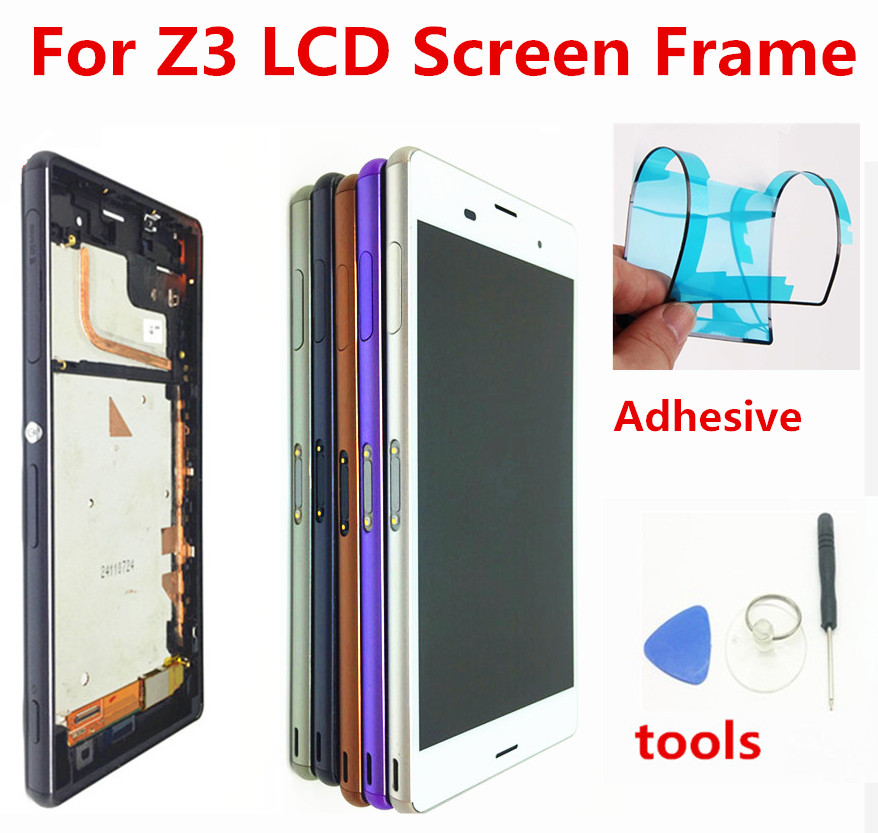 5.2'' Display Replacement For Sony Z3 D6653 D6633 D6603 LCD Touch Screen Assembly Digitizer With Frame Free tool + adhesives