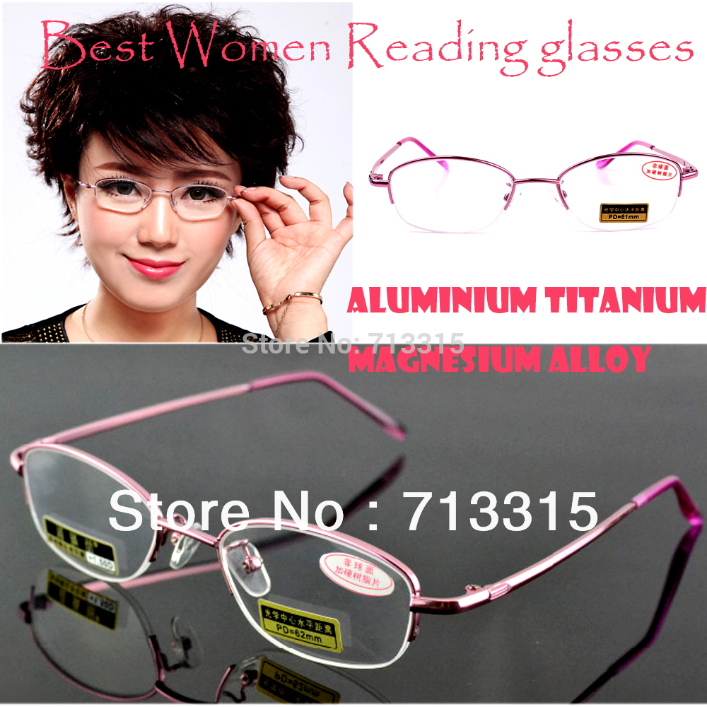2017 Titanium Magnesium Alloy Women Lady Non Aspheric Surface Red Super Lite Reading Glasses +0.75 +1 +1.25 +1.5 +1.75 +2 To +4