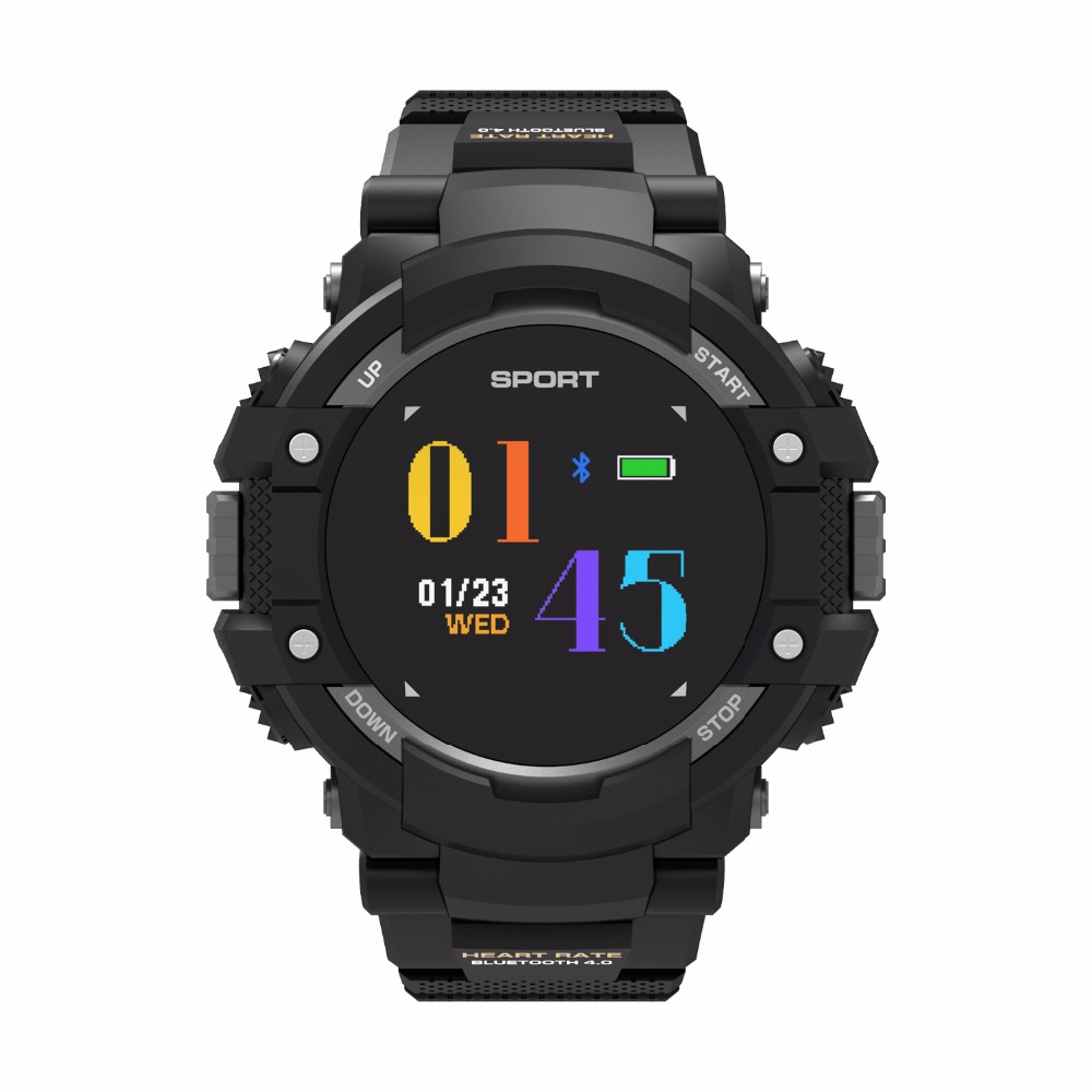 Bluetooth F7 GPS Smart Uhr Mann Farbe LCD Realtime Herz Rate Temperatur Monitor Multisport-fahrrad Outdoor Sport smartwatch android