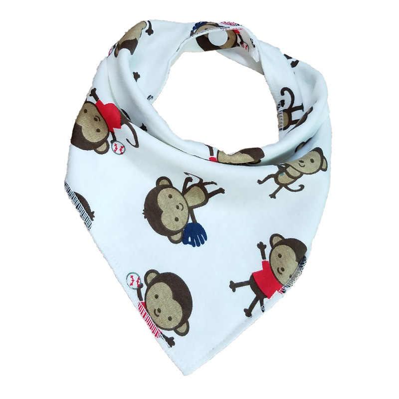 Doble triángulo de algodón baberos Bandana bebé Babador de alimentación delantal infantil Burp paños Saliva toalla bebé comiendo accesorio de bebé
