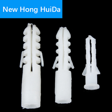 цена на Plastic expansion pipe rubber plug plastic pipe nylon column expansion screw anchor plug wall plugs M6 M8