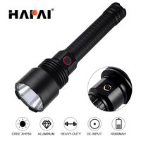 High Lumen 10000 High Power LED Flashlight super bright cree XHP50 XHP70 outdoor Self Defense led torch Use 2*26650 battery