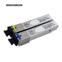 1 пара разъем SC 1,25 Гбит/с 3 км/20 км DDM BIDI Otdr оптический транceiver модуль 1310nm/1550nm WDM SFP модуль SC переключатель совместимый