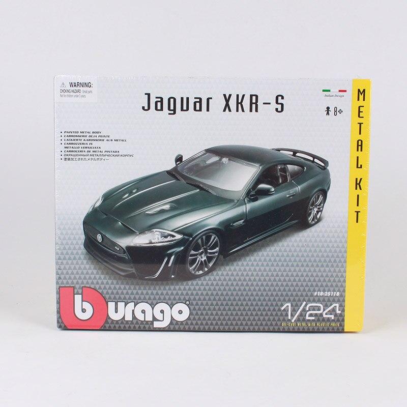 Bburago 1:24 Jaguar xkr-s voiture moulé sous pression ensembles luxe noble version voiture modèle manuel assembler vert voiture jouet cadeau 25118