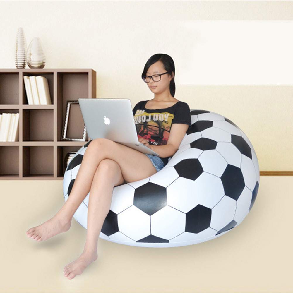 2017 New Fashion Single Seat Inflatable Football Sofa Chair Simple Lounger For Living Room Outdoor Beach Air Sofa 110*80cm 6 5ft diameter inflatable beach ball helium balloon for advertisement