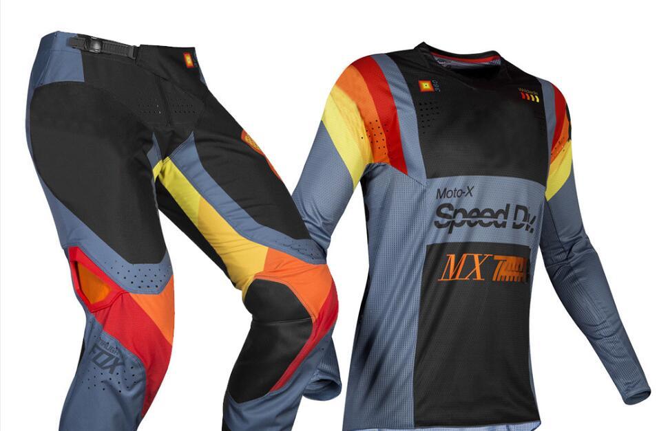 Free Shipping Racing 2019 MX 360 Murc Blue Steel Jersey Pants Combo Adult Motocross Motocross Dirt