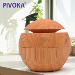 PIVOKA 130ml Aroma Diffuser Air Humidifier Essential Oil Humificador Aromaterapia Para Casa 7 Color Change LED Light Home 003