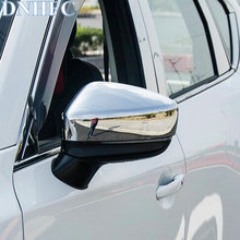 DNHFC Silver shiny style Car rear view mirror decorative cover for MAZDA CX 5 CX5 2nd