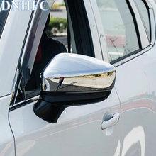 Dnhfc серебряные блестящие стиль автомобиля зеркало заднего вида декоративные покрытия для Mazda CX-5 CX5 2nd поколения 2017 2018 автомобилей стиль