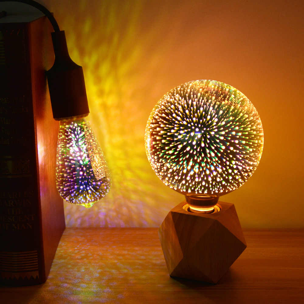 E27 3D Firework LED Bulb Lamp light Christmas Light Indoor Holiday Lighting  New Year Decoration Fairy Lights Kerstverlichting