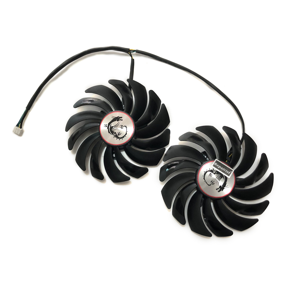 2pcs/lot computer radiator cooler Fans Video Card cooling fan For MSI GTX1080/GTX1070/GTX1060 GAMING GPU Graphics Card Cooling