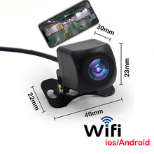 High-quality WIFI HD Car Reverse Camera Wireless Car Rear View Camera for IOS and Android Phone With Video Recording Function hd 720p wifi wireless 15m underwater fishing camera video recording for ios android app supports video record aluminum alloy