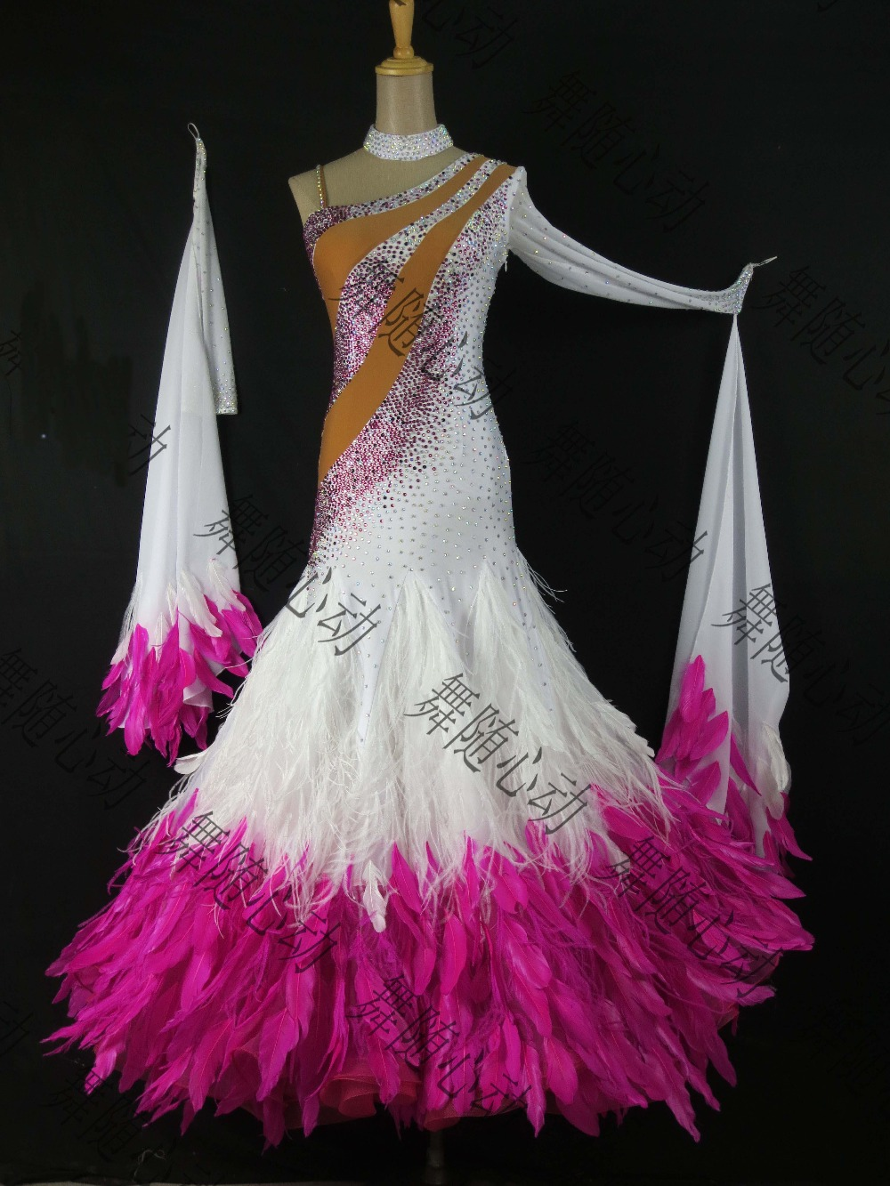 FEATHER DRESS,New style Latin Ballroom dance costume ...