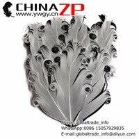 Ouro Fornecedor CHINAZP Fábrica 50 pçs/lote Enrolado Nagorie Almofada De Penas De Ganso Branco e Preto Headband para Acessórios de Cabelo