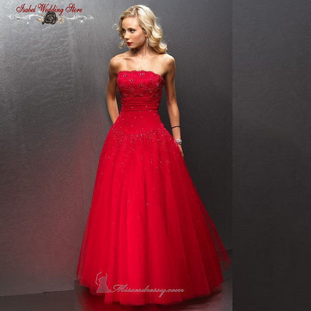 Civil War Southern Belle Ball Gown Red Tulle Lace Beaded Floor length Prom Long Dresses Evening Gown Party 2015